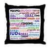 Contraception-themed Throw Pillow