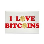 Bitcoins-4 Rectangle Magnet (10 pack)