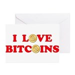 Bitcoins-4 Greeting Cards (Pk of 20)
