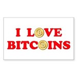 Bitcoins-4 Sticker (Rectangle 10 pk)