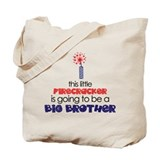 Little Firecracker Big Brother Tote Bag