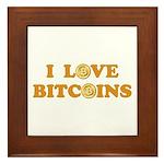 Bitcoins-6 Framed Tile
