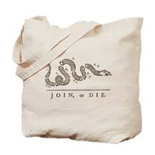 Join or Die Snake Tote Bag