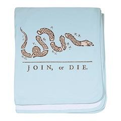 Join or Die Snake baby blanket