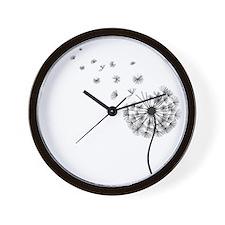 Blowing Dandelion Wall Clock