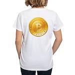 Bitcoins-1 Women's V-Neck T-Shirt