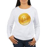 Bitcoins-1 Women's Long Sleeve T-Shirt