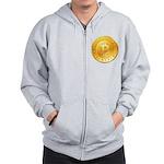 Bitcoins-1 Zip Hoodie