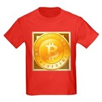 Bitcoins-3 Kids Dark T-Shirt