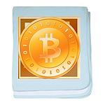 Bitcoins-3 baby blanket