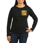 Bitcoins-3 Women's Long Sleeve Dark T-Shirt