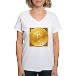 Bitcoins-3 Women's V-Neck T-Shirt