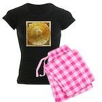 Bitcoins-3 Women's Dark Pajamas
