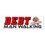"""Obama: Debt Man Walking!"" Sticker (Bump"