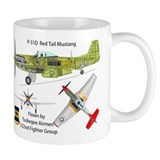 Tuskegee Airmen P-51 Mustang Small Mug