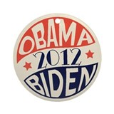 Vintage Obama Biden Ornament (Round)