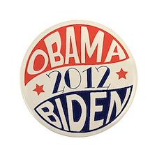 """Vintage Obama Biden 3.5"""" Button"""