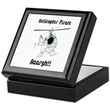 Helicopter Pirate Pilot Keepsake Box