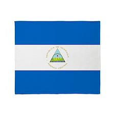 Flag of Nicaragua Throw Blanket