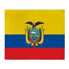 Flag of Ecuador Throw Blanket