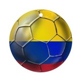 Colombian Soccer Futbol Ornament (Round)
