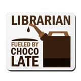 Librarian Fueled By Chocolate Mousepad
