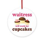 Funny Waitress Ornament (Round)