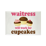 Funny Waitress Rectangle Magnet