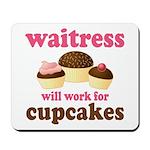 Funny Waitress Mousepad