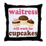Funny Waitress Throw Pillow