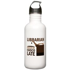 Librarian Fueled By Chocolate Water Bottle