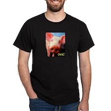 Oink Black T-Shirt