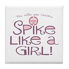 Spike Like a Girl Tile Coaster