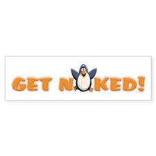 Naked Penguin Bumper Sticker