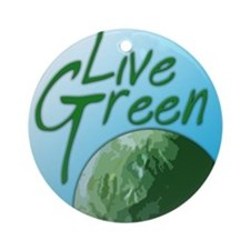 Live Green Ornament (Round)