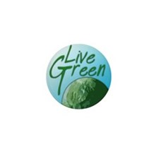 Live Green Mini Button (10 pack)