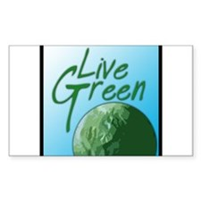 Live Green Rectangle Decal