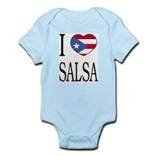 """Puerto Rican """"I Love Salsa"""" Infant Creeper"""