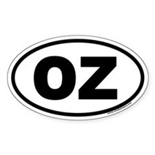 OZ Euro Oval Decal