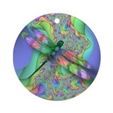 Dragonfly Art Ornament (Design5)(Round)