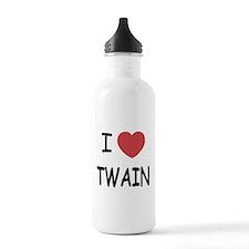 I heart twain Water Bottle