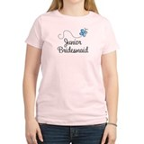 Blue Wedding Junior Bridesmaid T-Shirt