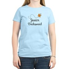 Pretty Wedding Junior Bridesmaid T-Shirt