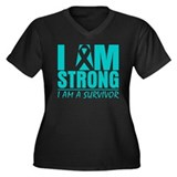 I am Strong Cervical Cancer Women's Plus Size V-Ne