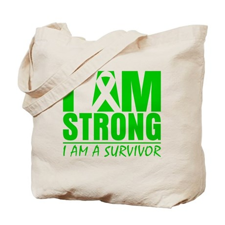 I am Strong Bile Duct Cancer Tote Bag