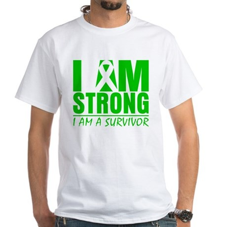 I am Strong Bile Duct Cancer White T-Shirt