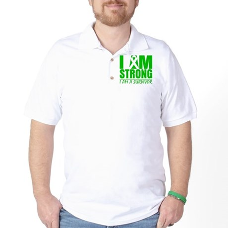 I am Strong Bile Duct Cancer Golf Shirt