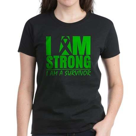 I am Strong Bile Duct Cancer Women's Dark T-Shirt