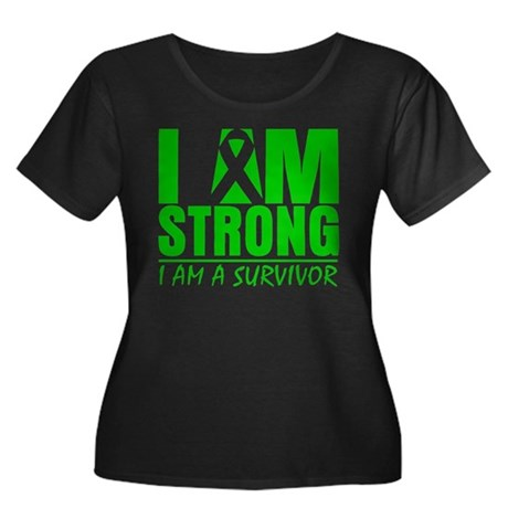 I am Strong Bile Duct Cancer Women's Plus Size Sco