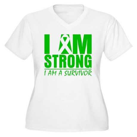 I am Strong Bile Duct Cancer Women's Plus Size V-N